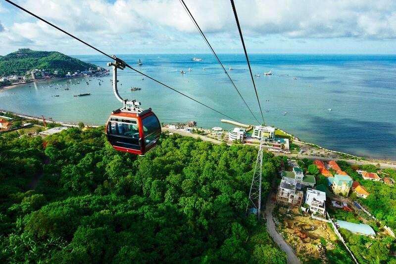 Cáp treo hồ mây Vũng Tàu