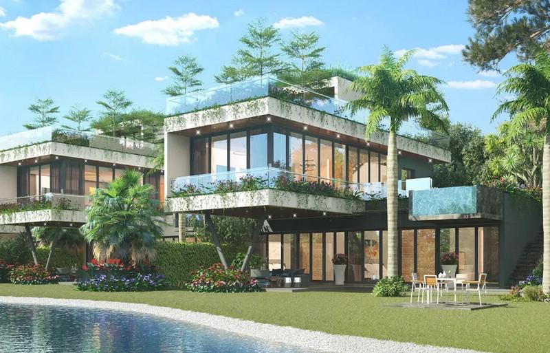 Biệt thự nằm ven hồ Flamingo Dai Lai Resort