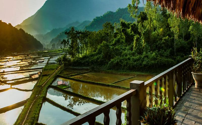 """Resort gần Hà Nội view đồng ruộng """"Mai Châu Ecolodge"""""""